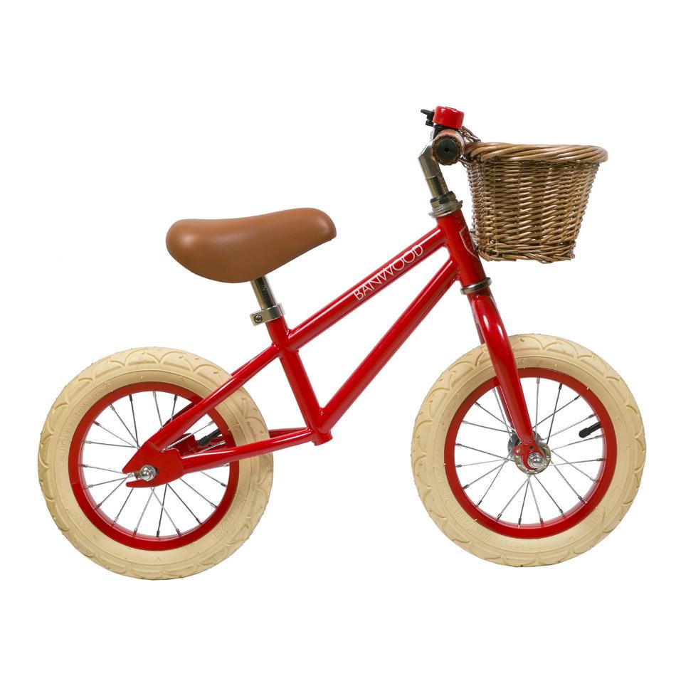 bici sin pedales de acero roja