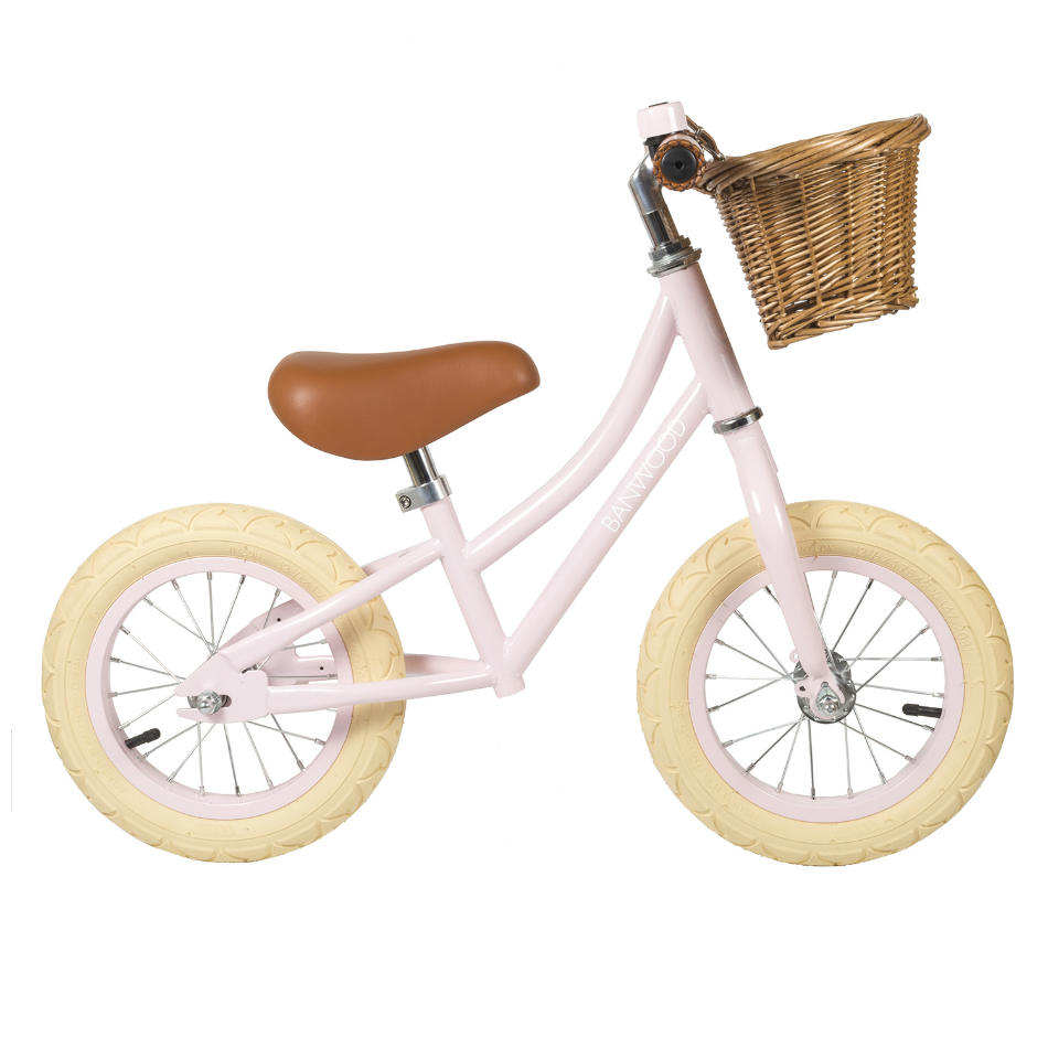 bici sin pedales de acero rosa