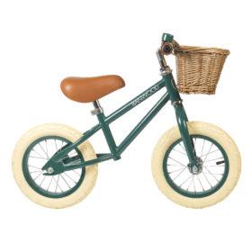 bici sin pedales de acero verde
