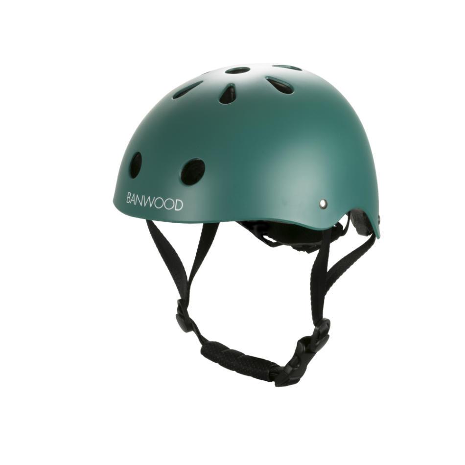 casco infantil verde mate