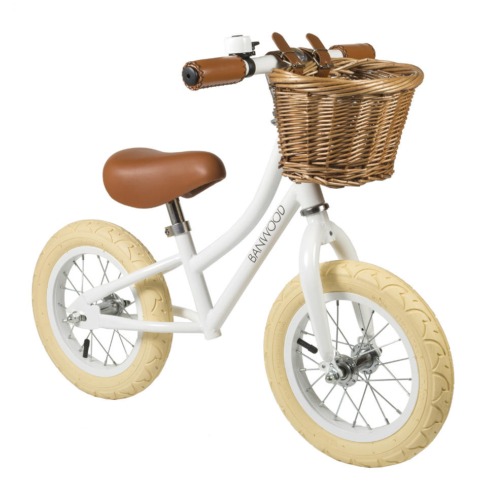 Bici sin Pedales de Acero First Go Blanca