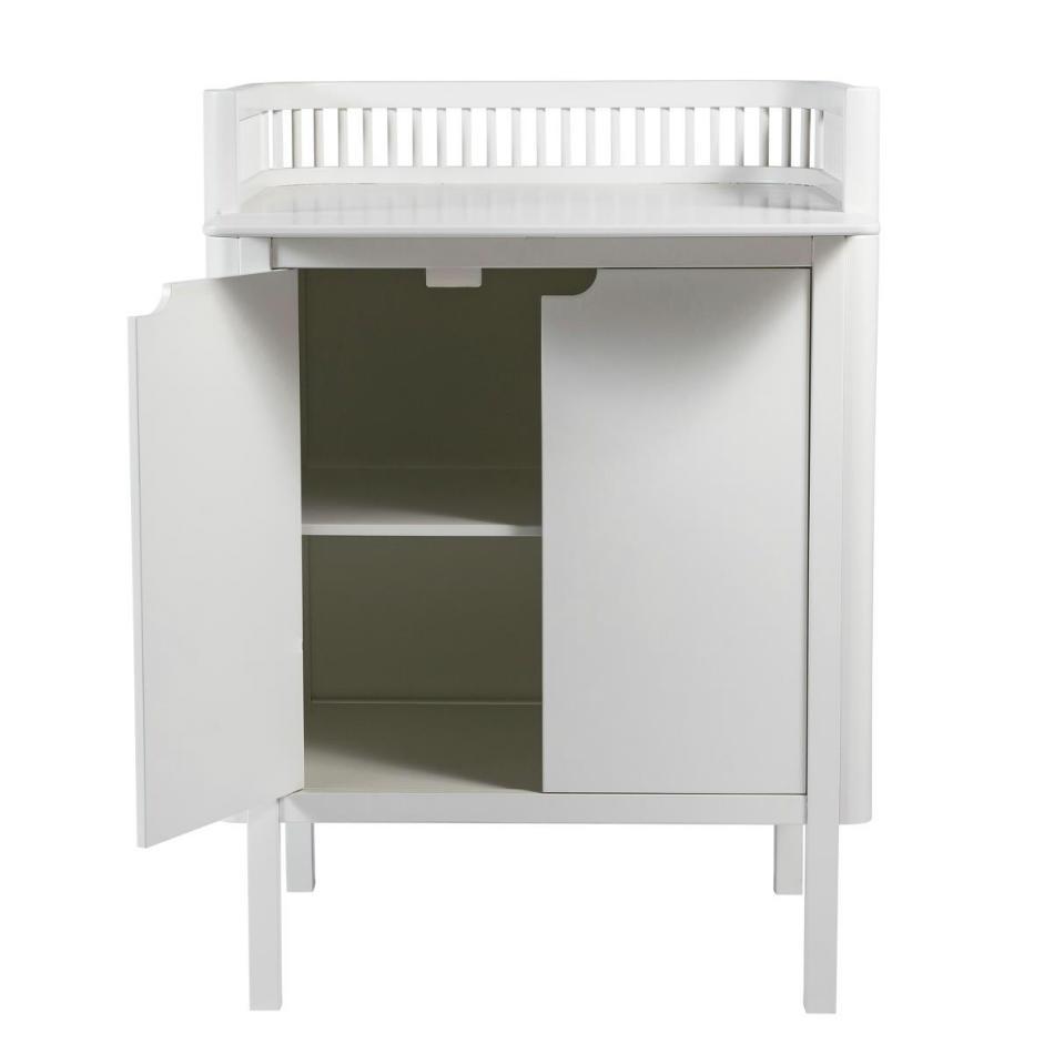 Mueble Cambiador para Bebé Sebra en Blanco