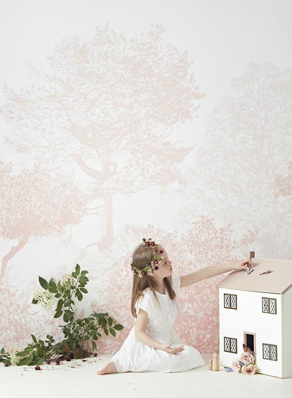 Mural Árboles de Hua en Rosa