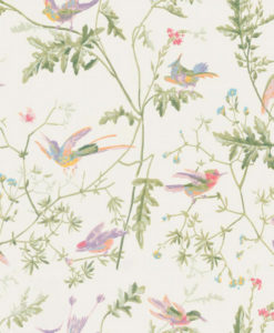 Papel Pintado Hummingbirds Blanco Roto
