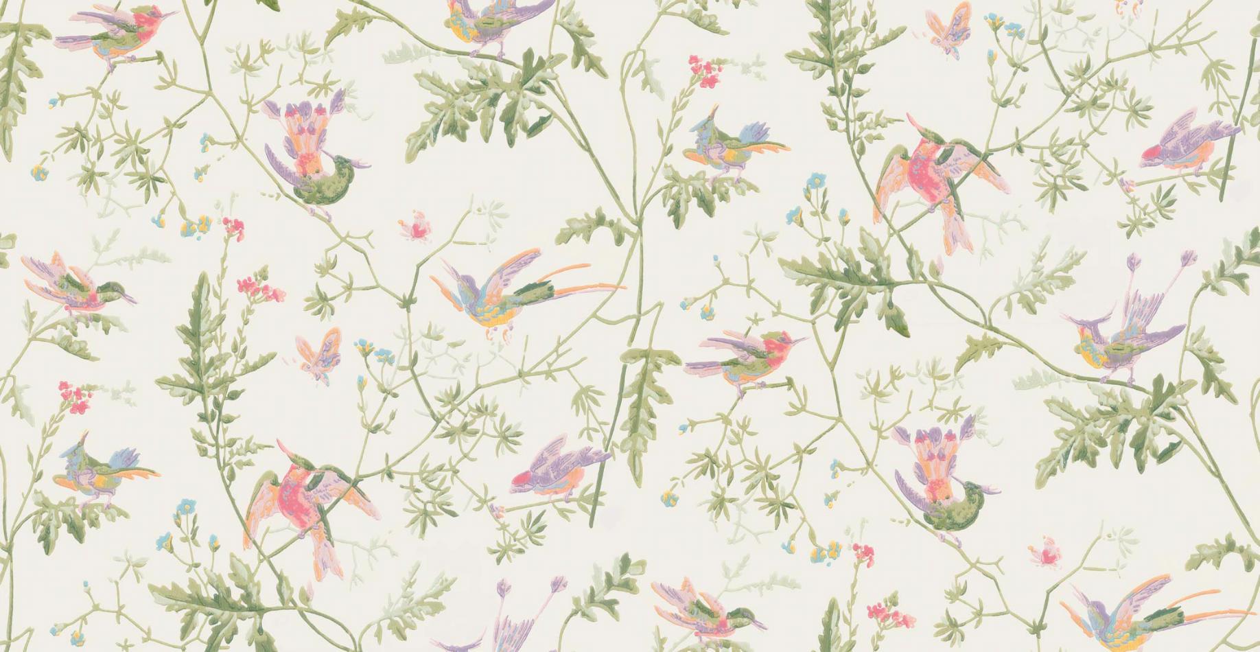 Papel Pintado Hummingbirds Blanco Roto