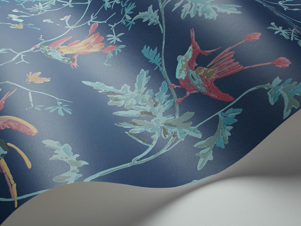 Papel Pintado Hummingbirds Azul Índigo
