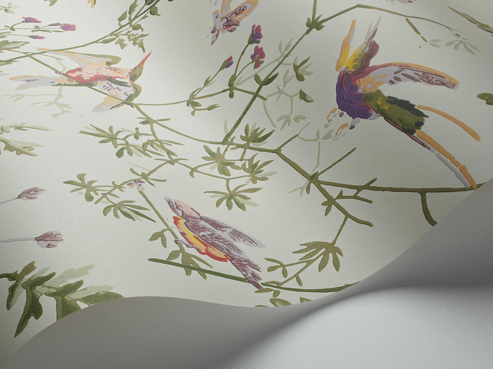 Papel Pintado Hummingbirds Verde