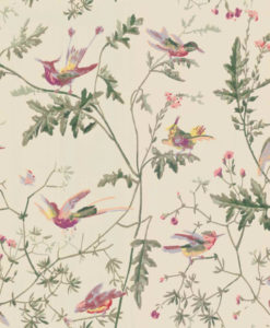 Papel Pintado Hummingbirds Beis