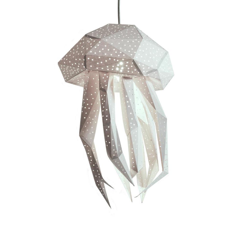 Lámpara Infantil de Papel Medusa Blanca