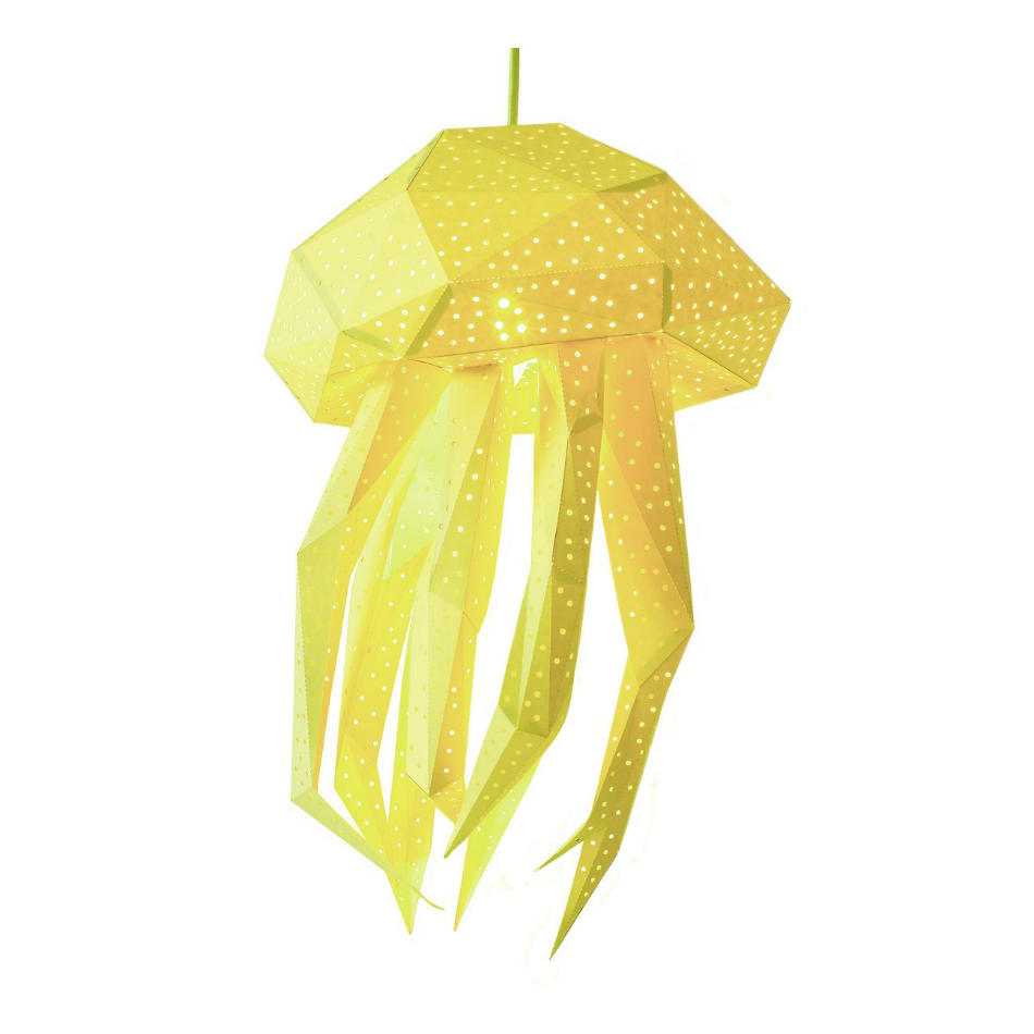 Lámpara Infantil de Papel Medusa Amarilla