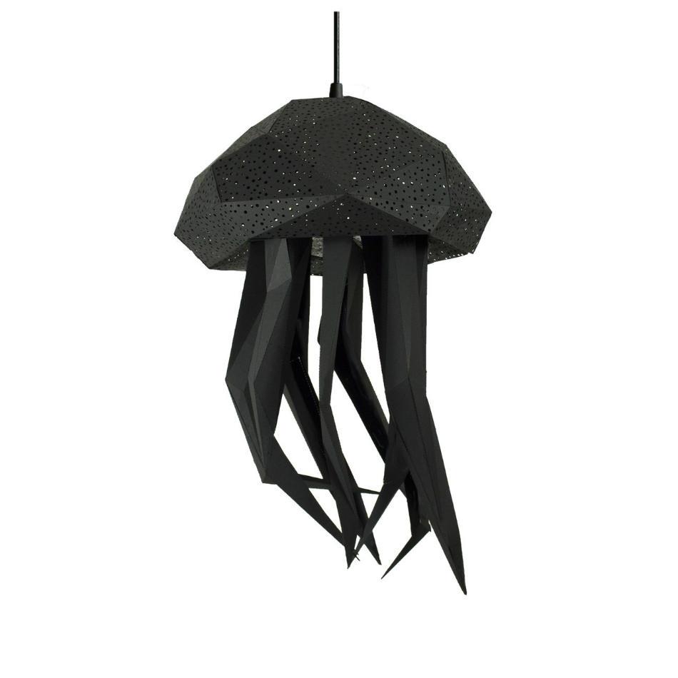 Lámpara Infantil de Papel Medusa Negra