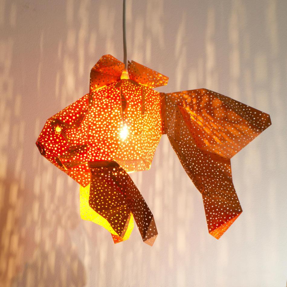 Lámpara Infantil de Papel Pez Naranja